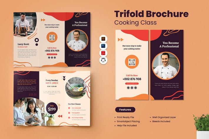 Cooking Class Trifold Brochure