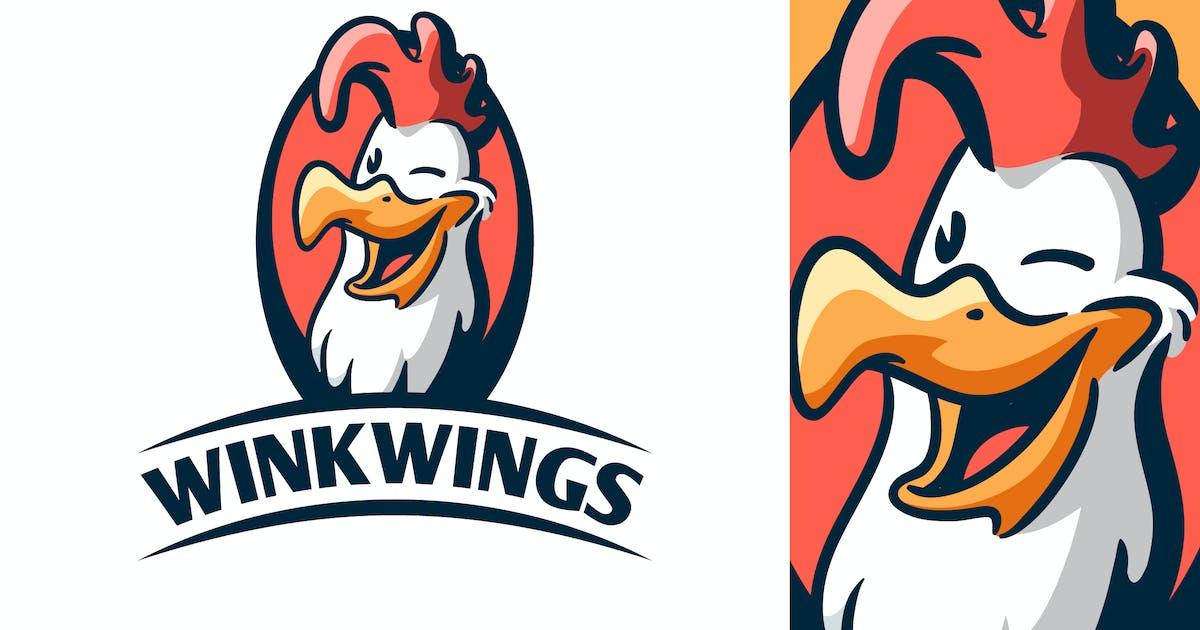 Download Cartoon Retro Winking Chicken Mascot Logo by Suhandi