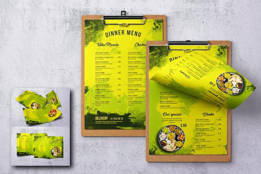 Indian Cuisine Food Menu Bundle