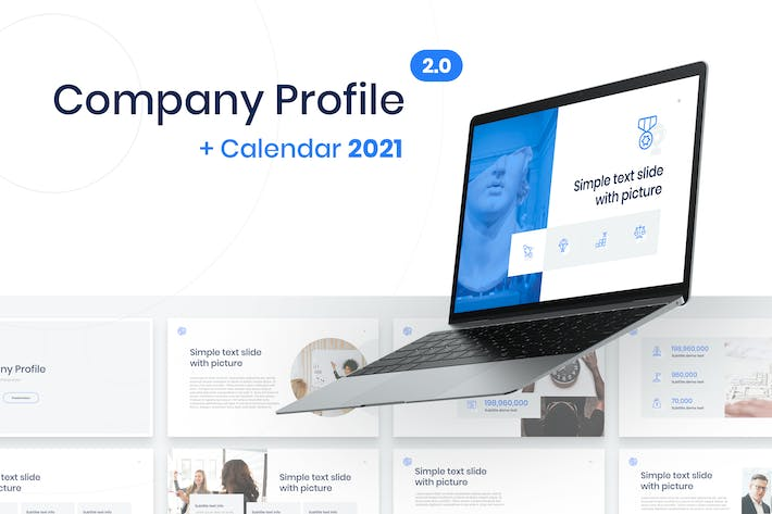 Thumbnail for Company Profile in Keynote