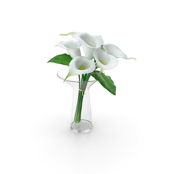 Calla Lilies Bouquet in Glass Vase