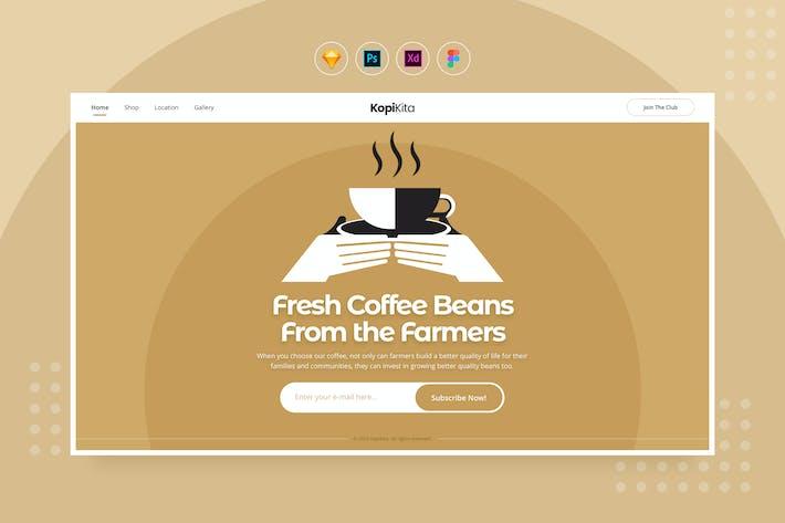 Thumbnail for Dailyui.v31 - Site d'abonnement Café