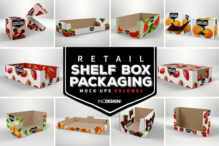 Thumbnail for VOLUME 1: Retail Shelf Box Packaging Mockups