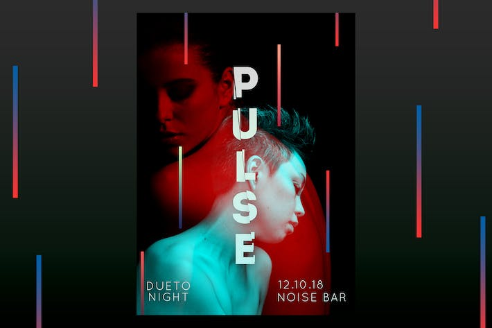Cover Image For Pulse Dueto Night Flyer Poster