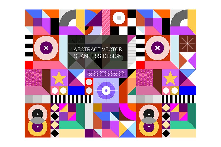 Abstract Seamless Geometric Design