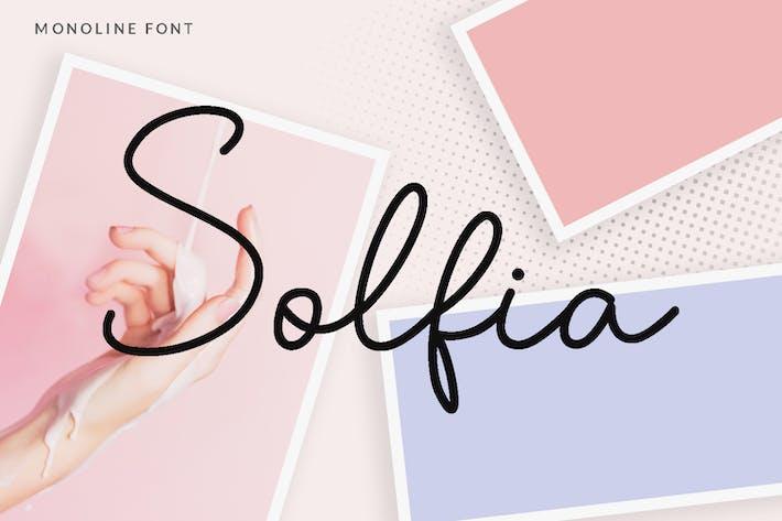 Thumbnail for Solfia - Modern Handwritten Font
