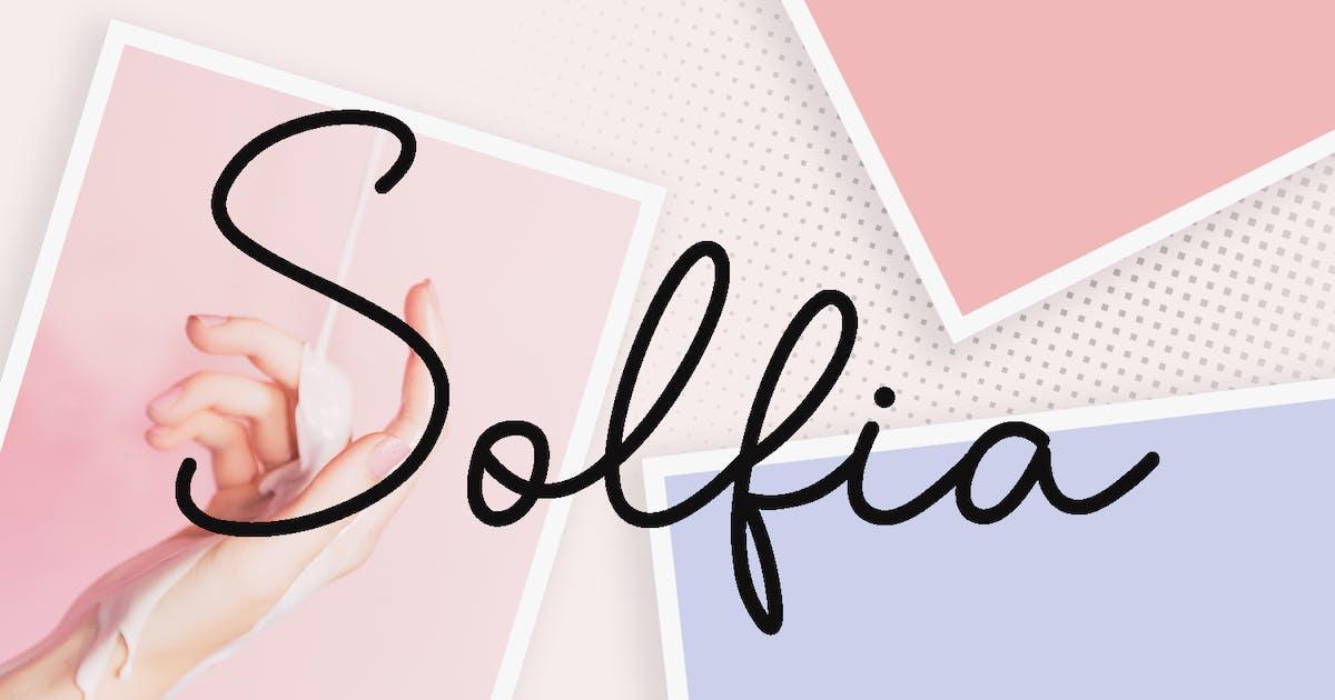 Download Solfia - Modern Handwritten Font by YumnaStudio