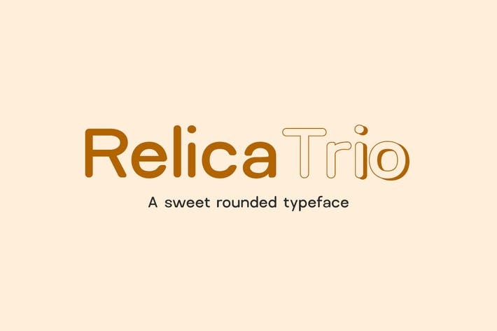 Thumbnail for Relica Trio - A Sweet Rounded Sans-Serif Typeface