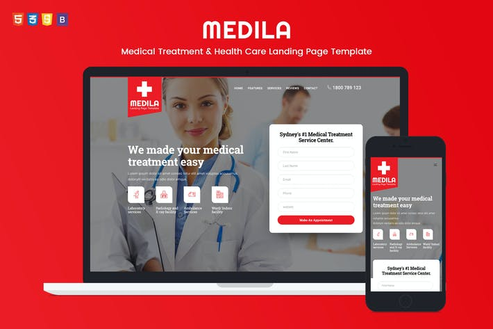 Thumbnail for Medila - Medical Treatment & Health Care Template