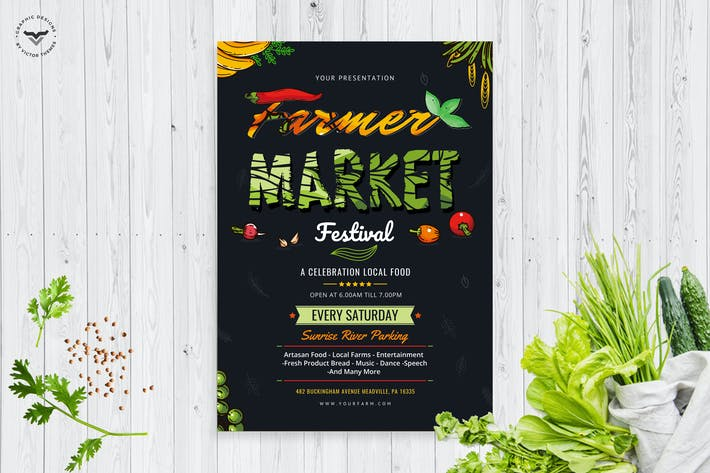 Thumbnail for Organic Market Farmers Flyer