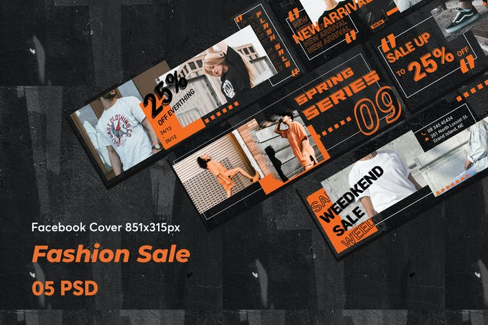 Thumbnail for Creative Fashion Sale Facebook Cover