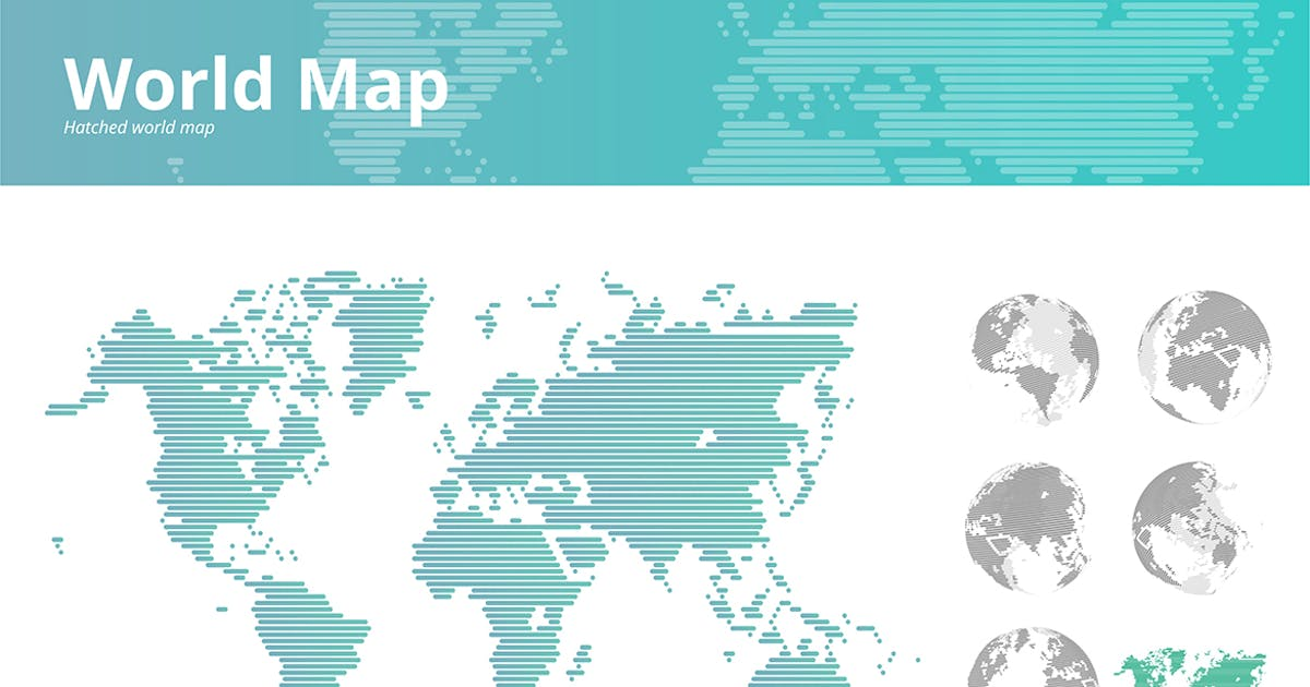 Download Hatched world map by PureSolution
