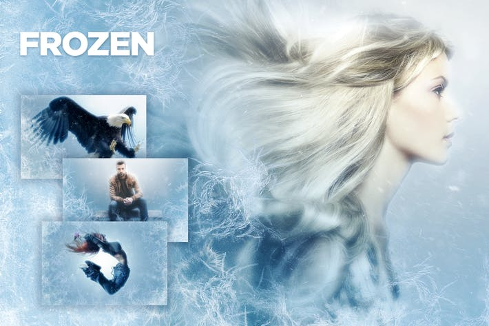 Thumbnail for Frozen Photoshop Action CS3+