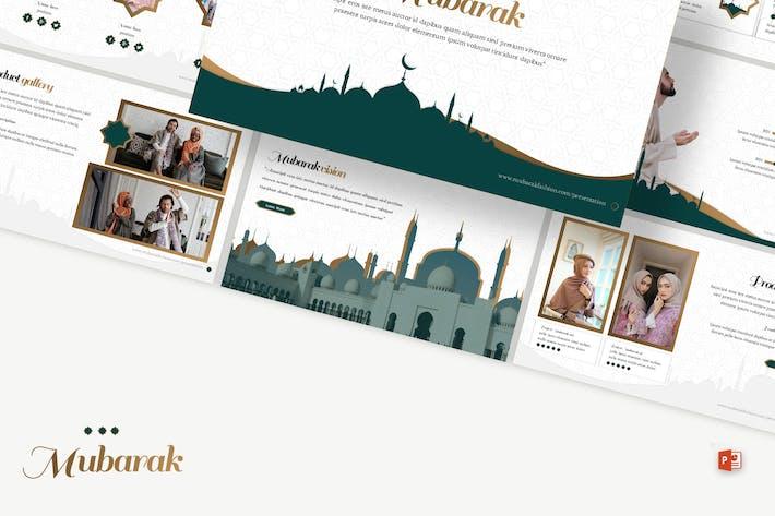 Mubarak - Islamic Shop Powerpoint Template