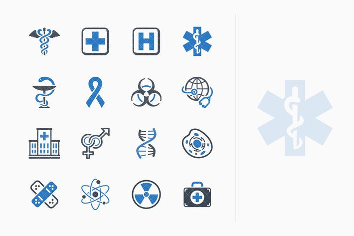 Thumbnail for Medical & Health Care Icons Set 1 - Blue Series