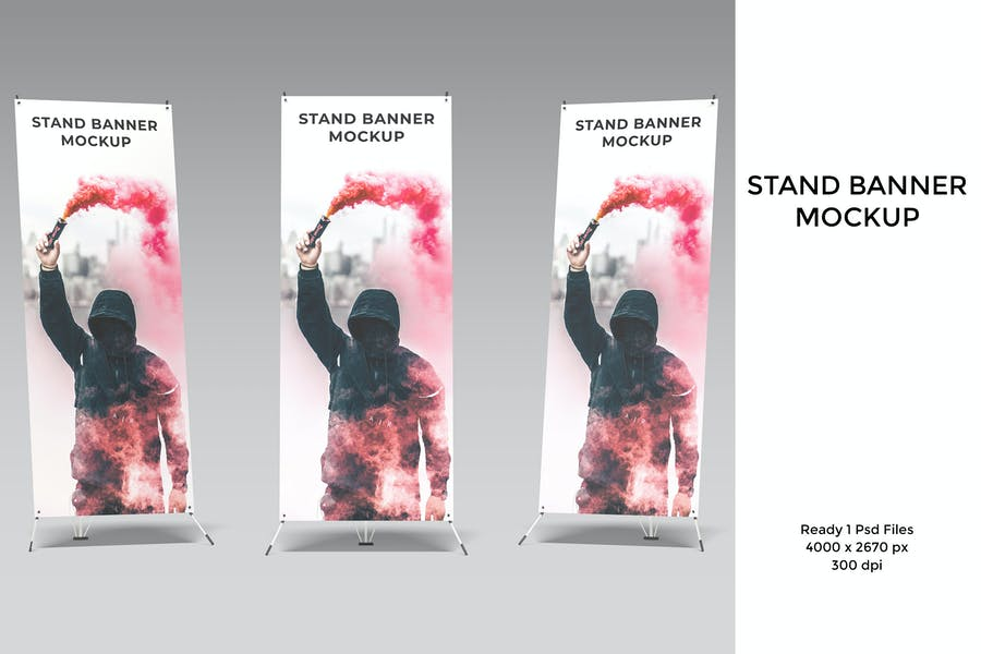 Stand banner Mockup
