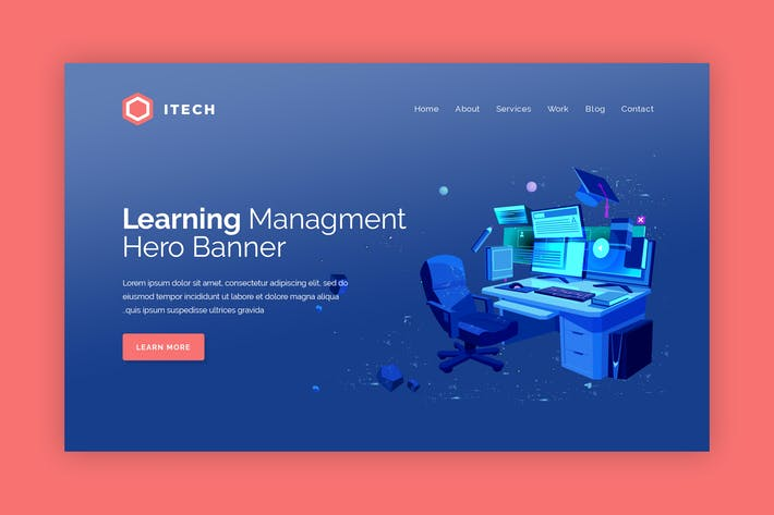 Thumbnail for iTech - Hero Banner Landing Page