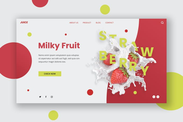 Thumbnail for Milk Fruit Hero Header Template