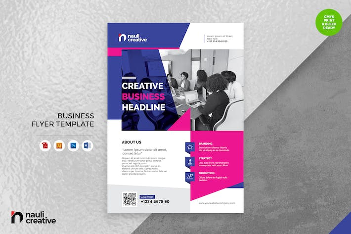Corporate Business Flyer AI, DOC, & PSD Vol.40