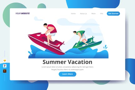Sommerurlaub - Landing Page