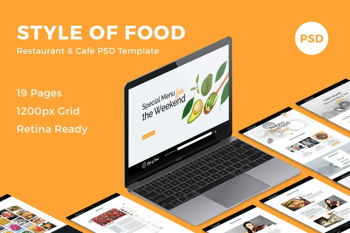 Thumbnail for Style of Food - Restaurant & Cafe PSD Template