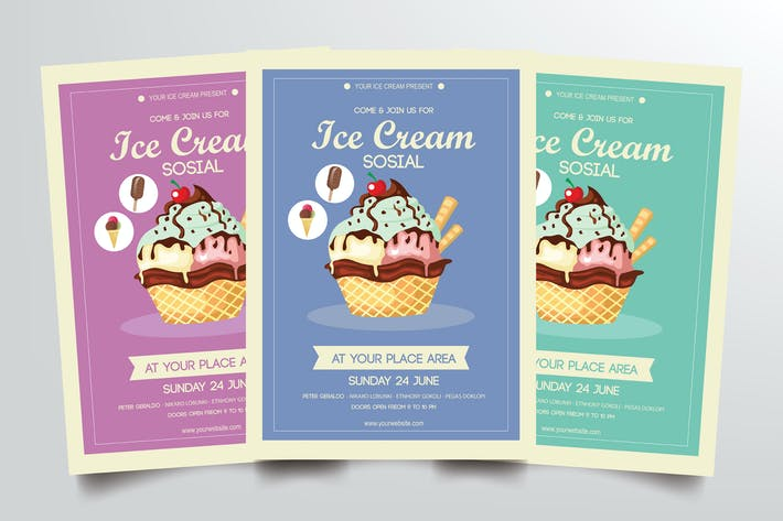 Thumbnail for Ice Cream Flyer Template