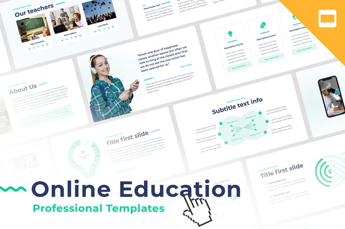 Thumbnail for Online Education Google Slides Template