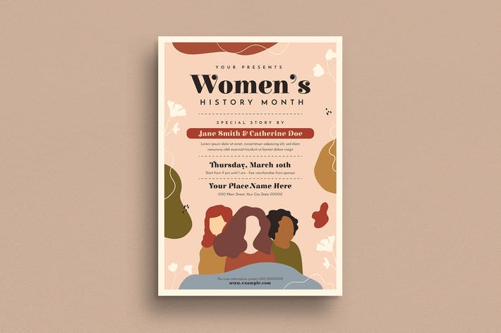 Thumbnail for Women's History Month Event Flyer