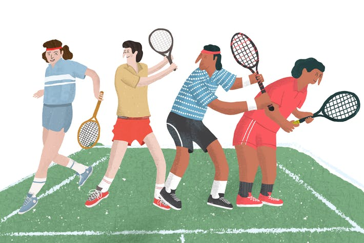 Thumbnail for Tennis Vintage illustration