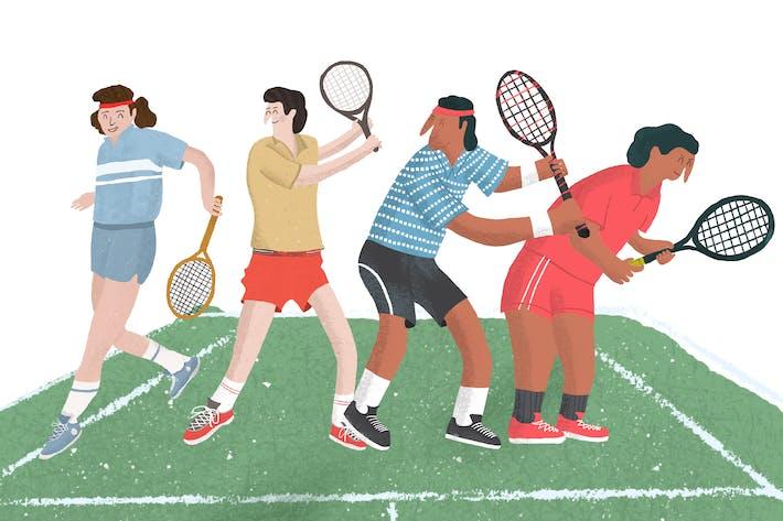 Tennis Vintage illustration