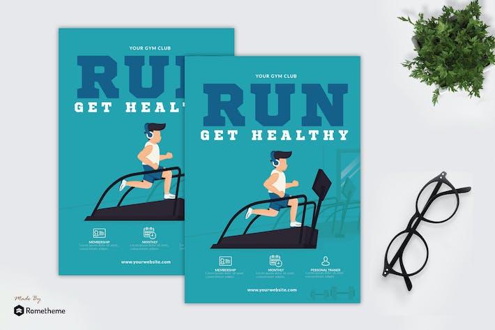 Thumbnail for Run Get Healthy - Creative Flyer GR
