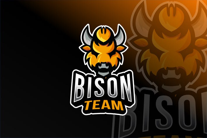 Thumbnail for Bison Team Esport Logo Template