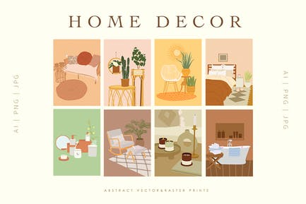 Acogedora decoración para el hogar estampados