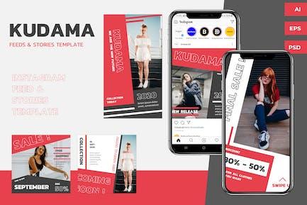 Kudama - Instagram Feeds & Stories Pack