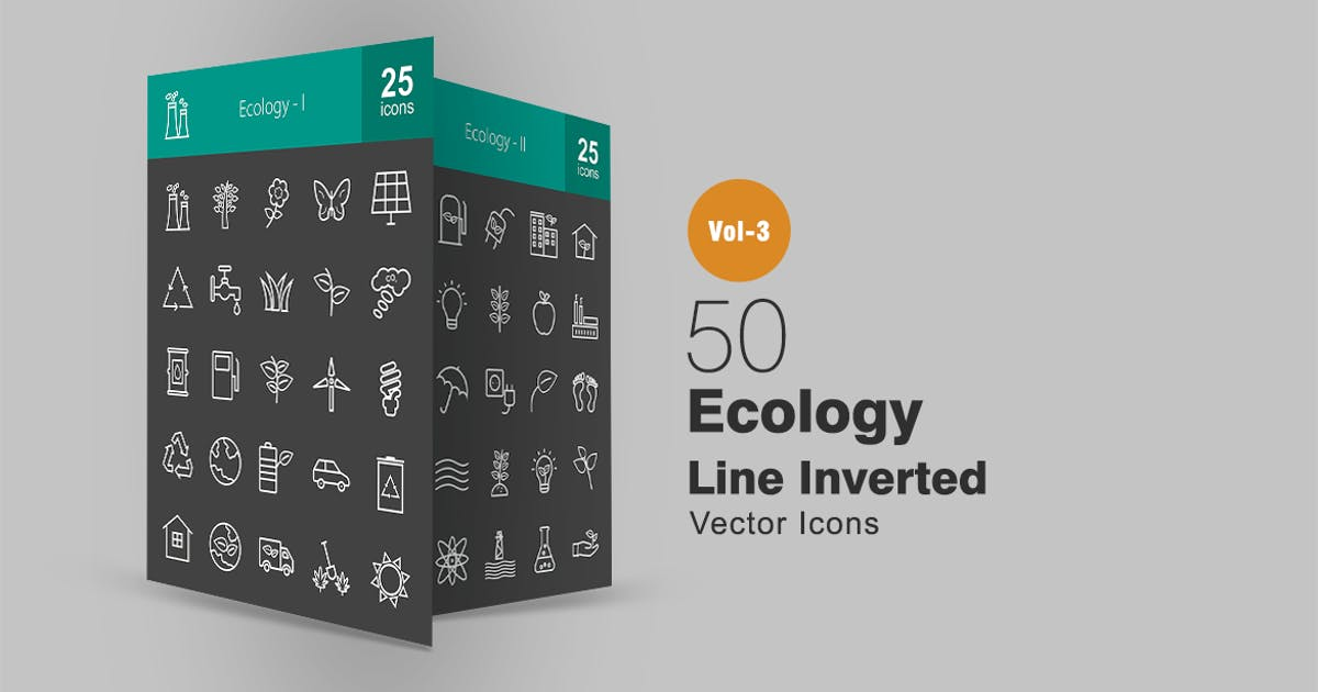 Download 50 Ecology Line Inverted Icons by IconBunny