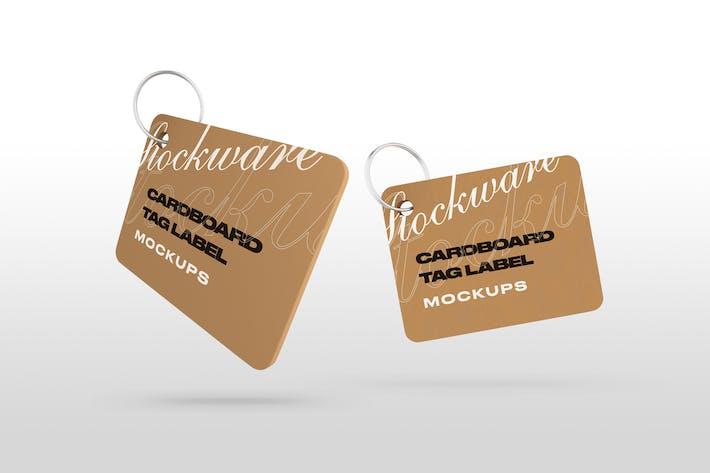 Thumbnail for Cardboard Tag Label Mockups
