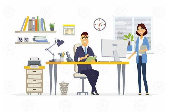 Thumbnail for Office Meeting - vector illustration