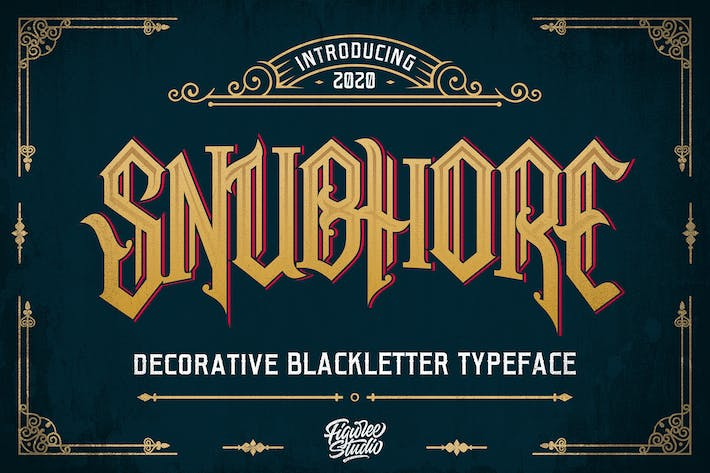 Thumbnail for Snubhore - Blackletter Typeface