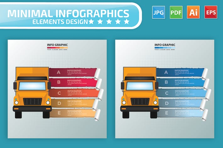 Cover Image For Truck Infographics Design