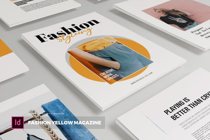 Thumbnail for Fashion Yellow | Magazine Template