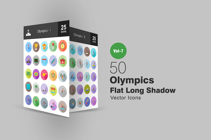 Thumbnail for 50 Olympics Flat Shadowed Icons
