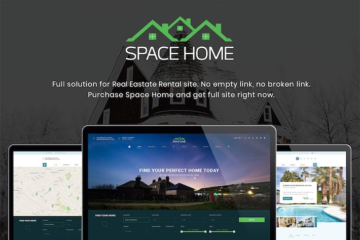 Thumbnail for Space Home - Real Estate WordPress Theme