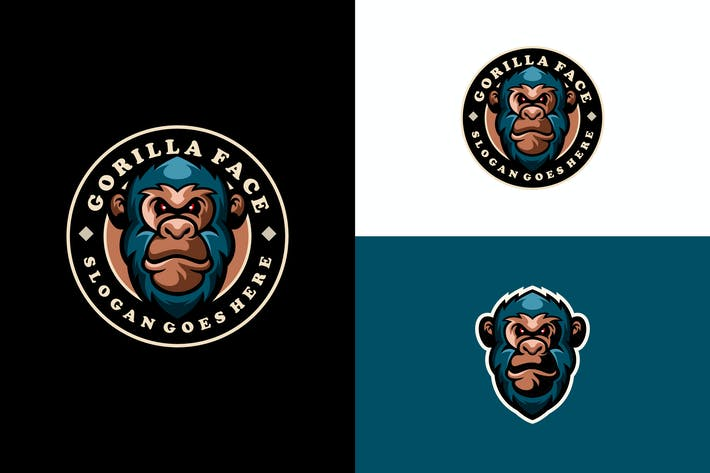 Thumbnail for gorilla mascot logo design emblem
