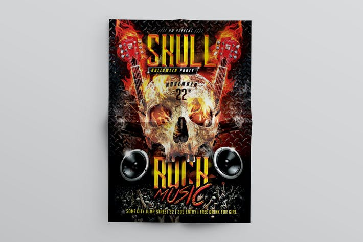 Thumbnail for Skull Rock Music Flyer