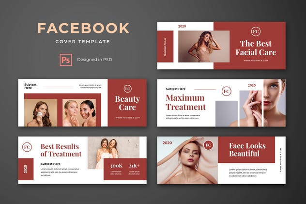 Facebook Cover Template Beauty
