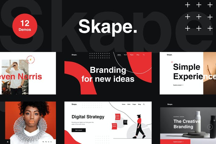 Thumbnail for Skape - Creative Agency & Portfolio HTML Template