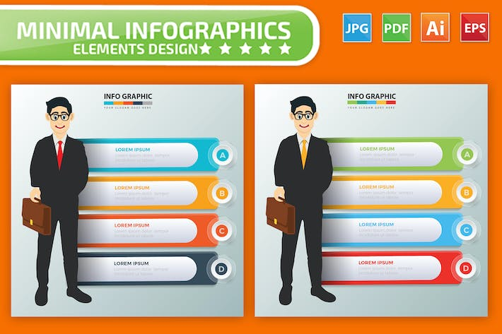 Thumbnail for Businessman Infographic Elements