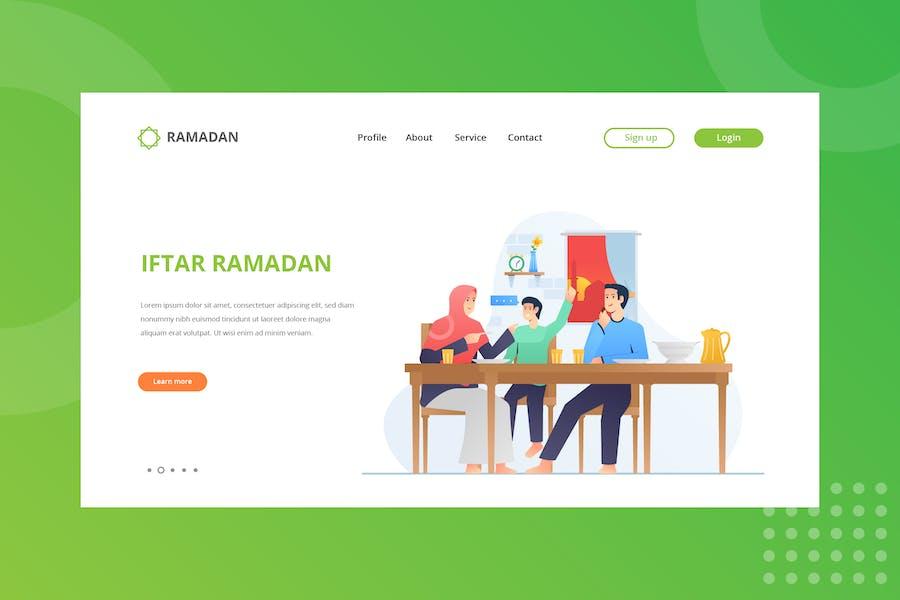 Iftar Ramadan Landing Page