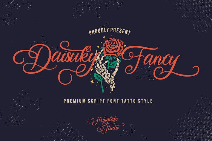 Thumbnail for Daisuky Fancy - Tatto Script Font
