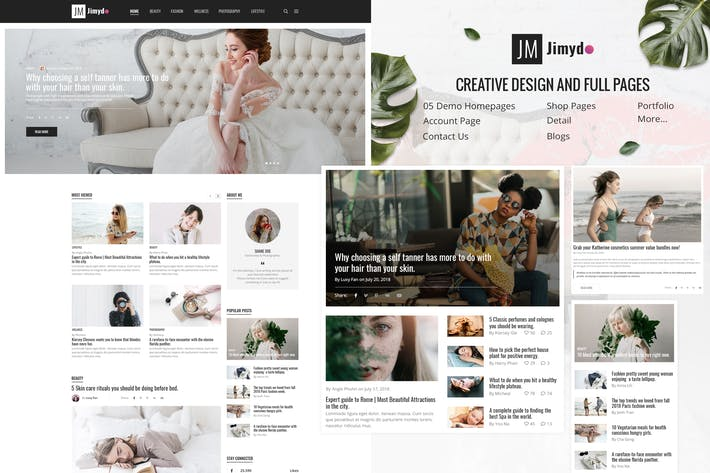 Thumbnail for Jimydo - Blog / Magezine PSD Template